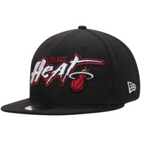 Miami Heat New Era Retro Graffiti 9FIFTY Adjustable Hat - Black - OSFA