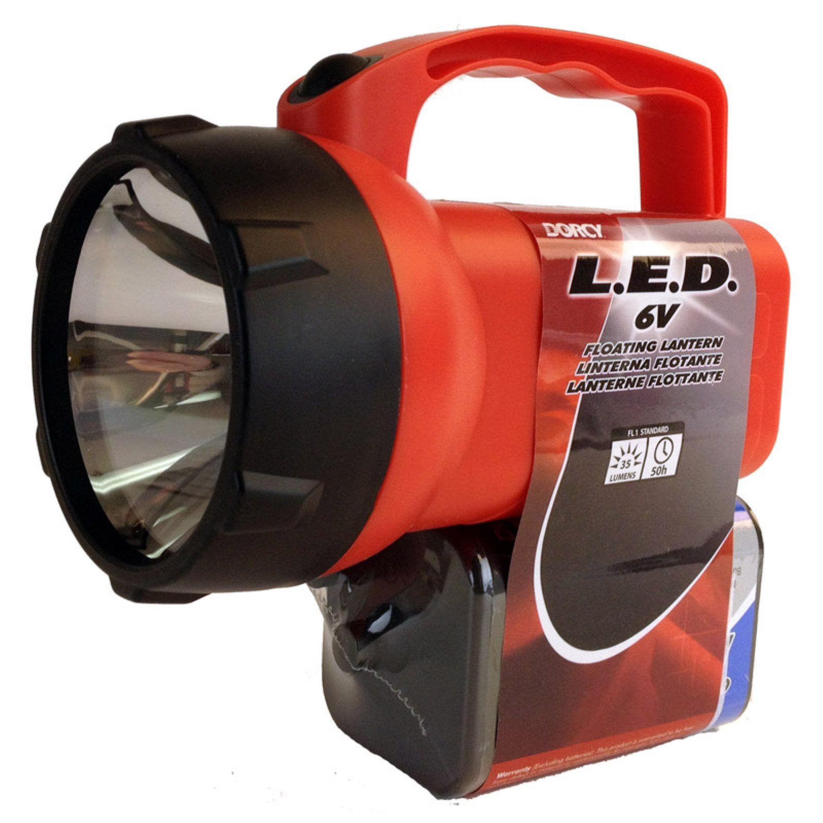 Dorcy 41-2081 Floating Waterproof LED Flashlight Lantern, 35-Lumens, Assorted Colors