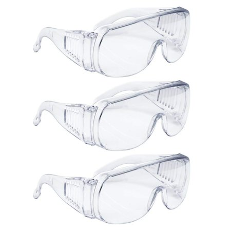 AMSTON Safety Glasses Personal Protective Equipment, PPE, Eyewear Protection, Clear Lens, Meets ANSI Z87+ Standards, High Impact, Vented Sides (4 Packs, Total (Z87 Impact)