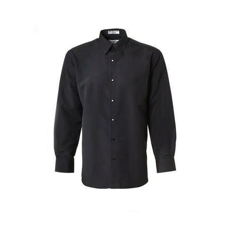 Men's Black Laydown Collar Microfiber Tuxedo (Microfiber Shirt)
