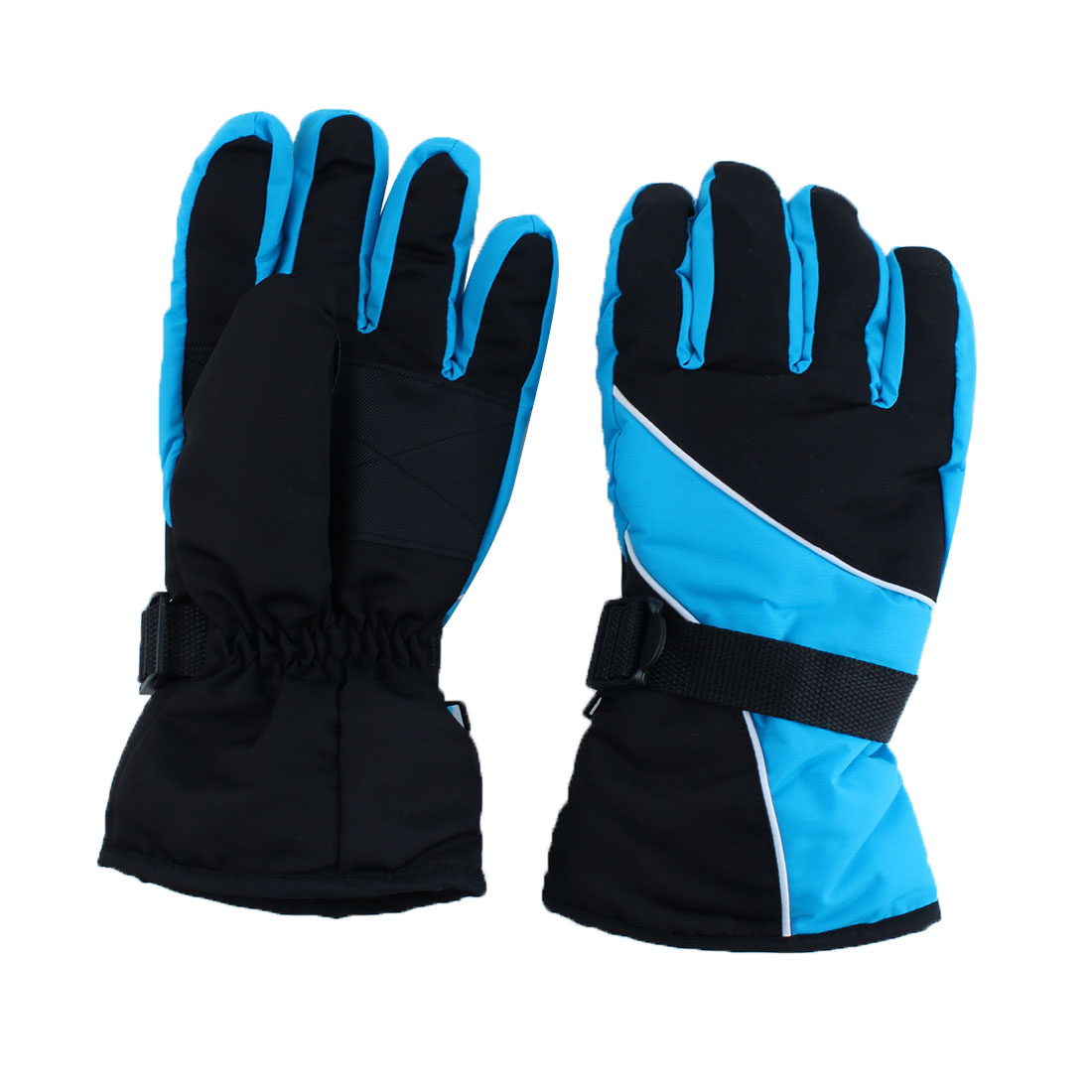 Motorcycle Climbing Winter Snowmobile Ski Gloves Athletic Mitten Light Blue Pair