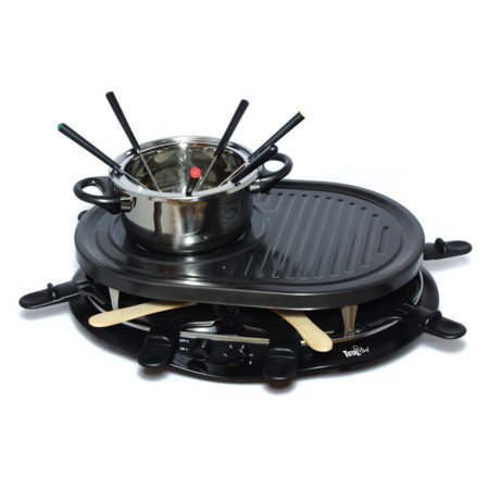 total chef tcrf08bn raclette party grill and fondue set. Black Bedroom Furniture Sets. Home Design Ideas