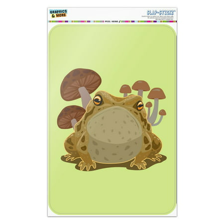 Toad Sitting In Front of Mushrooms Home Business Office Sign Mushroom Wall Plaque