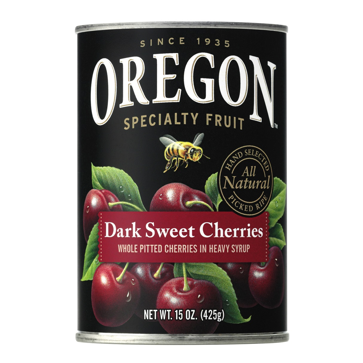 Oregon Fruit Products Pitted Dark Sweet Cherries Canned in Heavy Syrup, 15 oz