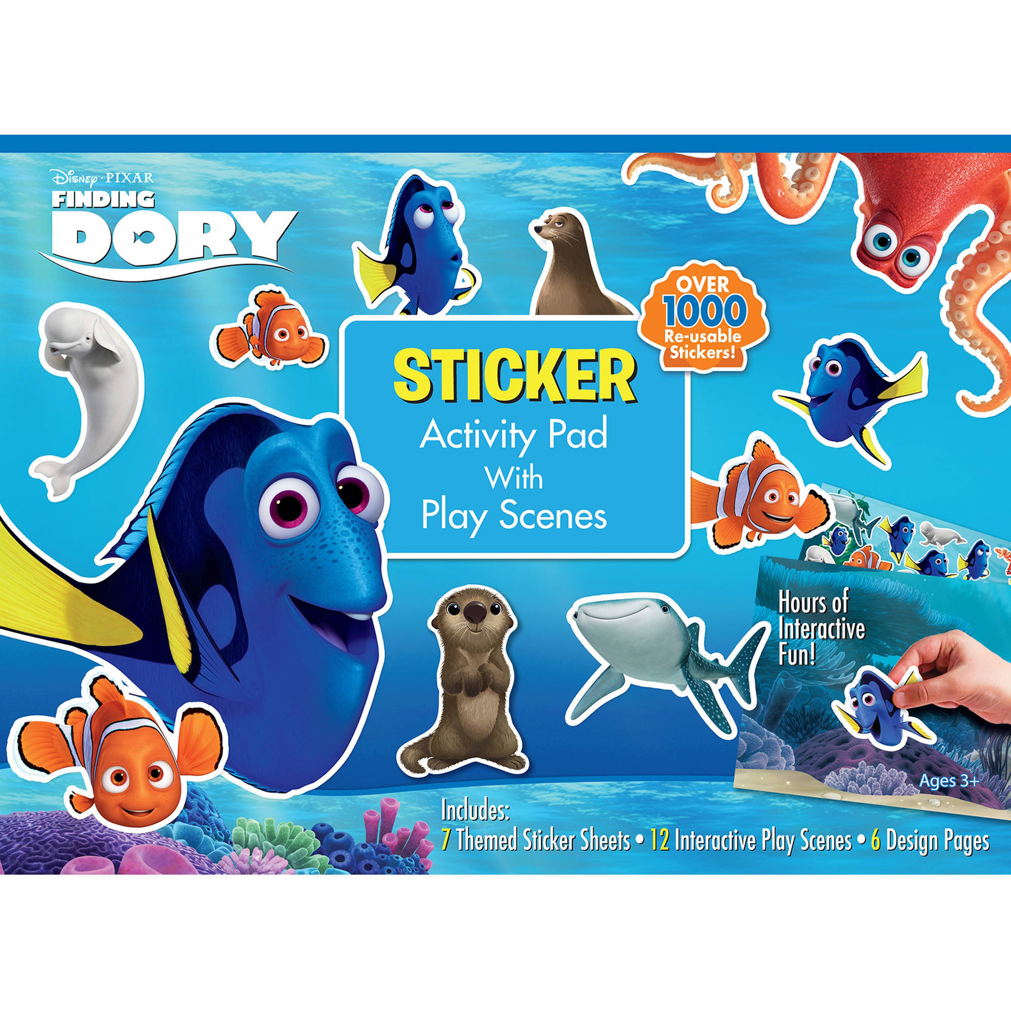 Disney Pixar/'s Finding Dory Sticker Pad Childrens Activity Stickers Party Kids