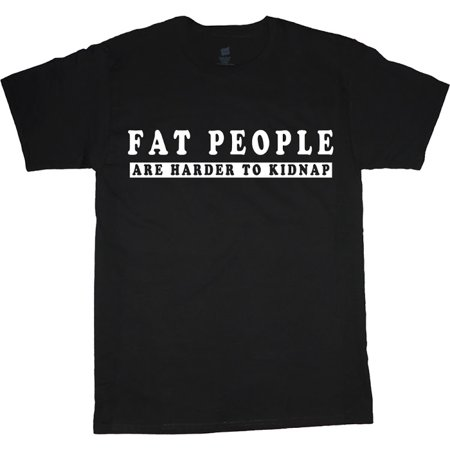 Fat People funny T-shirt Men's Tee Black