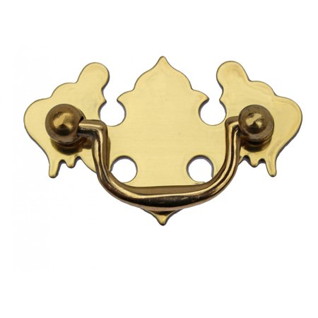 Chippendale Bail Pull Bright Solid Brass 2 7/8