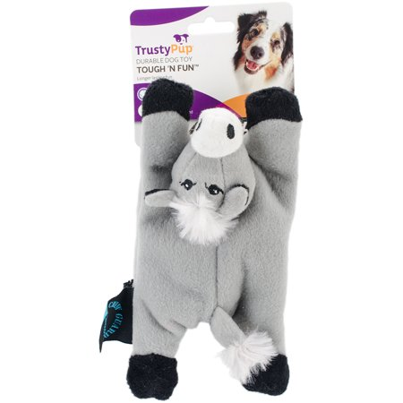 Trustypup  Just For Me Donkey Plush Crinkle And Squeaker Dog Toy
