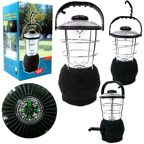 Happy Camper 12 LED Rechargeable Crank Lantern with Compass
