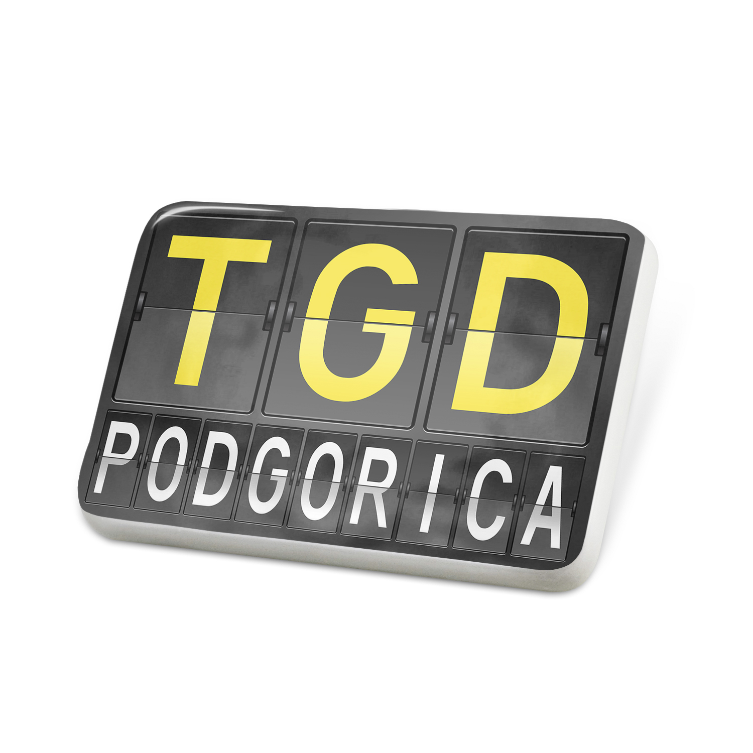 Porcelein Pin TGD Airport Code for Podgorica Lapel Badge – NEONBLOND
