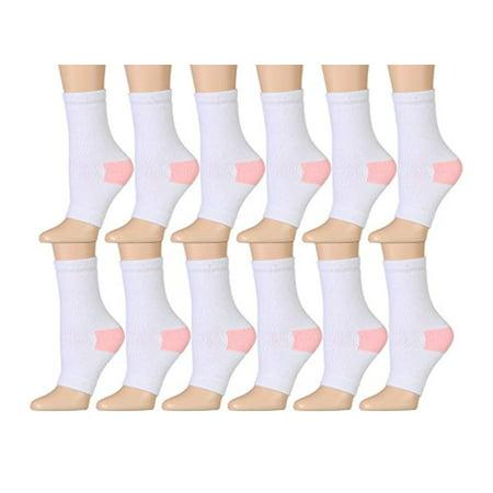 d0b1785b39e7 excell - 12 Pairs of excell women's pedicure socks, Open Toe Socks, Sock  Size 9-11 (White) - Walmart.com