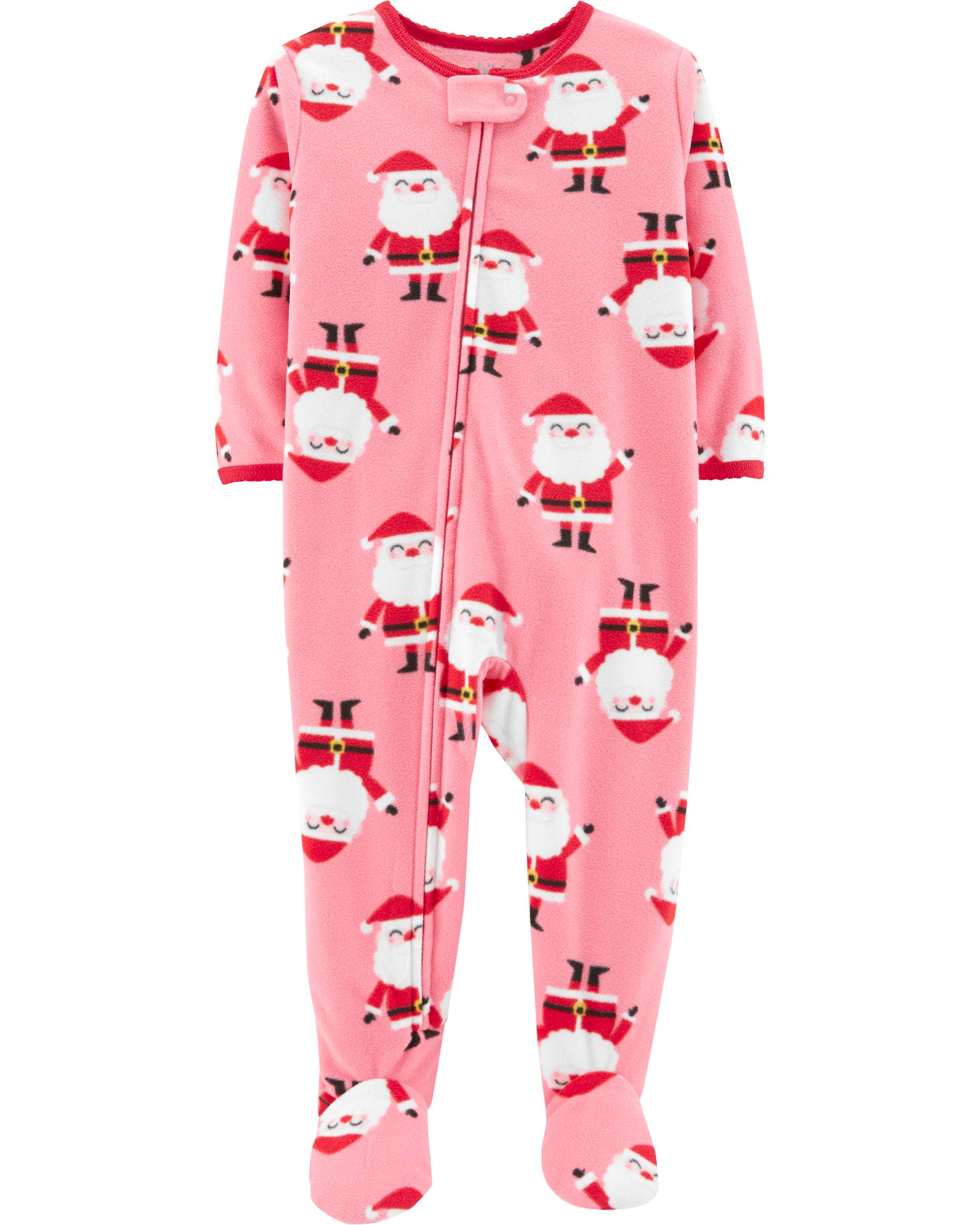 Child of Mine by Carter's Christmas Microfleece Footed Blanket Sleeper (Baby Girls & Toddler Girls)