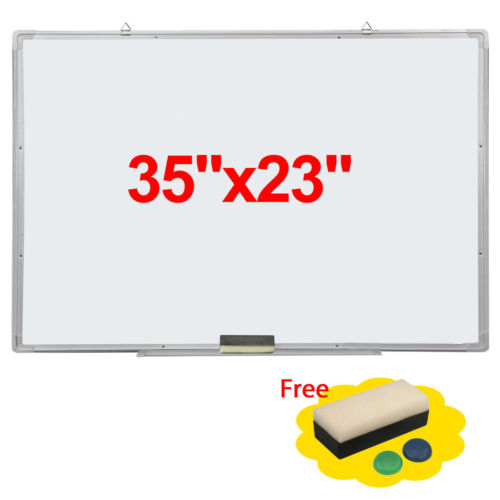 "Zimtown Magnetic Dry Erase Board, 35"" x 23"" Writing Whiteboard with Marker Eraser, Aluminum Frame Wipe Board for Office"