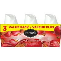 Renuzit Gel Air Freshener, Blissful Apple & Cinnamon, 7.0 Ounce, 3 Count