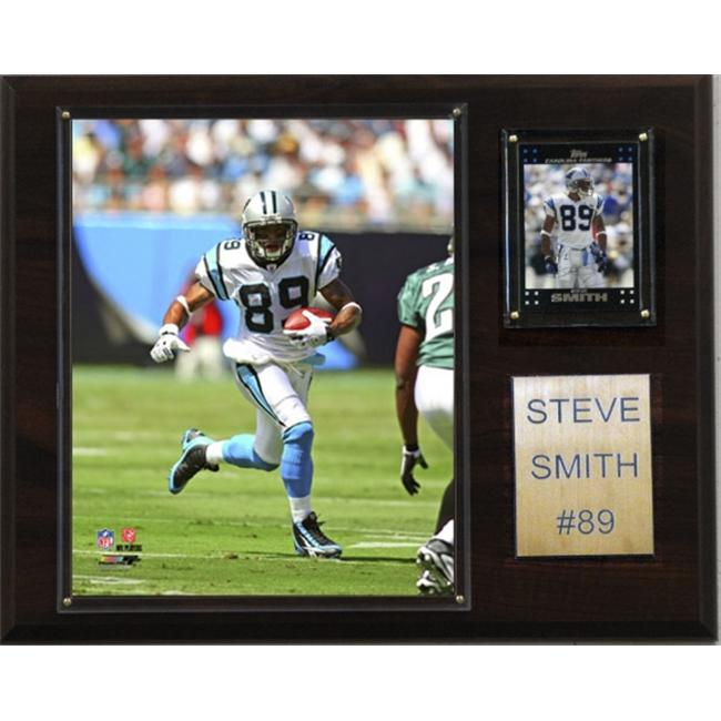 C & I Collectables 1215STSMITH NFL Steve Smith Carolina Panthers Player Plaque