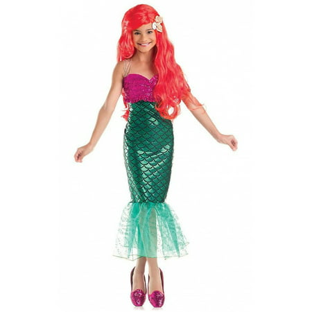 Girls Sweet Mermaid Costume - Green Mermaid Costume