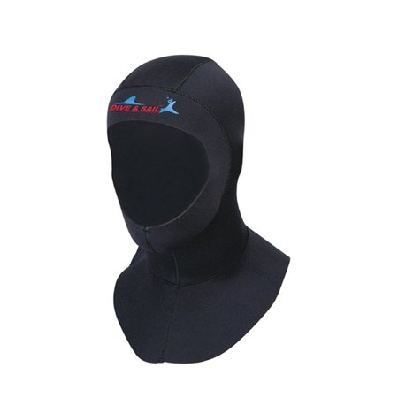 Unisex 3mm Diving Hood Cold Water Surfing Hat Hood Neck Cover Wetsuits Vented Bib Hood