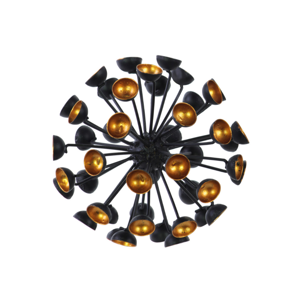 21927 Sea Urchin Large Ornamental Sculpture Decor Semi-Circle Tip Benzara by Benzara