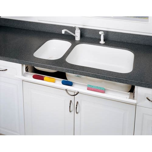 "Rev-A-Shelf 6541-36SC-50 Slim Line 36"" Slim Series Sink Front Tip Out Trays with Soft Close Hinges"