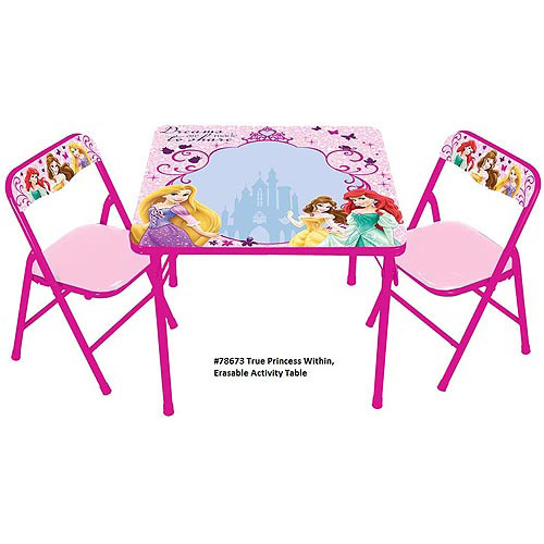 Disney Princess The True Princess Within Erasable Activity Table Set with 3 Markers