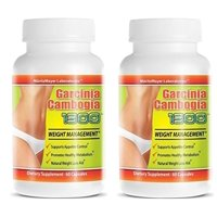 Garcinia Cambogia Extract 1300 60% HCA Weight Management Appetite Suppressant 60 Capsules Per Bottle 2 Bottles