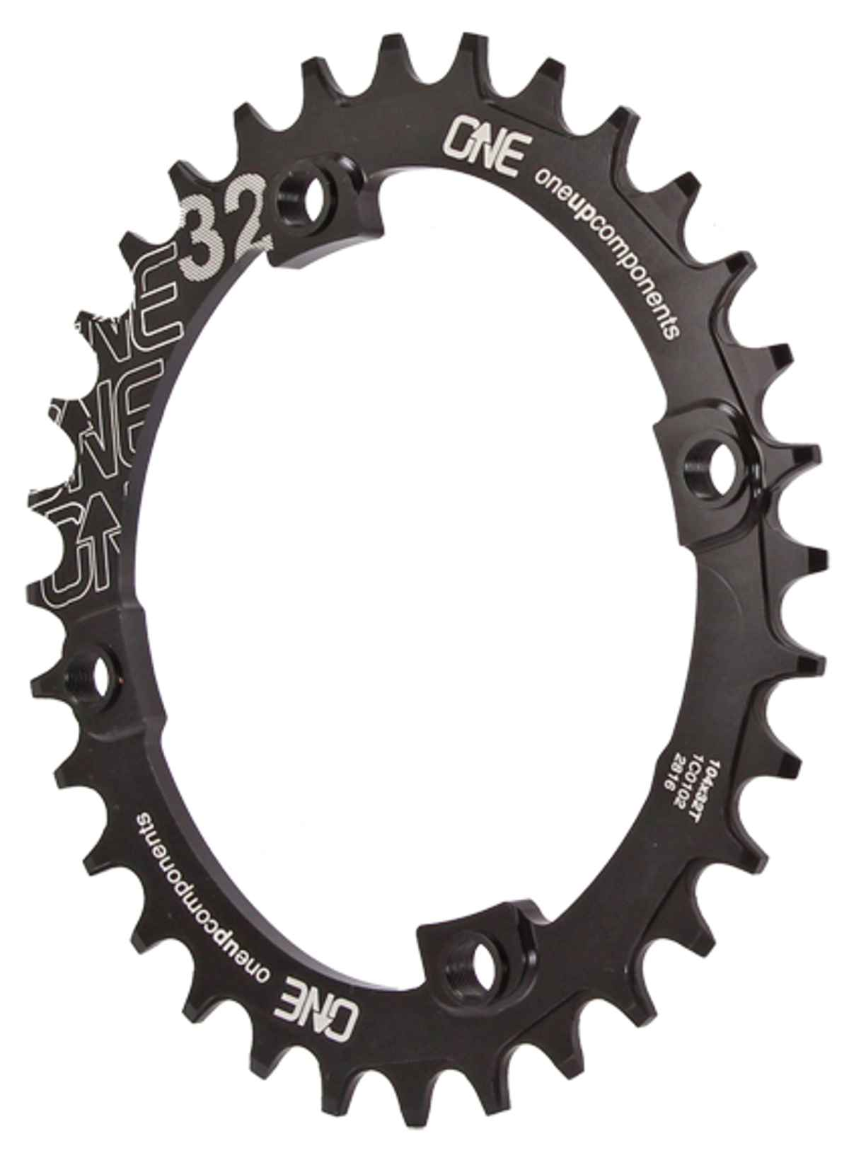 black OneUp Components 104 round chainring 104BCD 32T