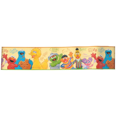 Sesame Street® Peel and Stick Border 15 ft. Carded Pack Adhesive Peel Off Borders