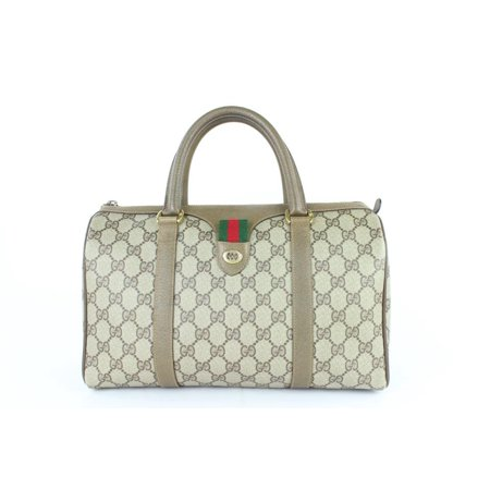 Boston Supreme Sherry Monogram Web 12gj1110 Brown Coated Canvas Weekend/Travel - Gucci Coated Canvas