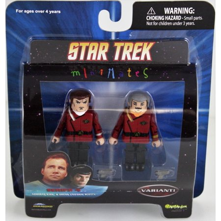 Star Trek Diamond Select Toys Series 4 Minimates Admiral Kirk and Dress Uniform Scotty (Variant)](Star Trek Dress Uniform)