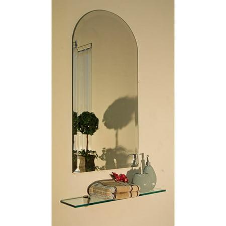 """Regency Arch Frameless Mirror Size: 30"""" H x 18"""" W"""