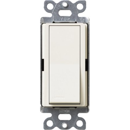 Lutron Claro On/Off Switch, 15-Amp, Single-Pole, SC-1PS-BI, Biscuit