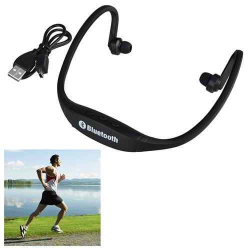 Insten Black Wireless Bluetooth Sports Stereo Headset Mic Handsfree for Smartphone Mobile Phone iPhone MP3 Music Player