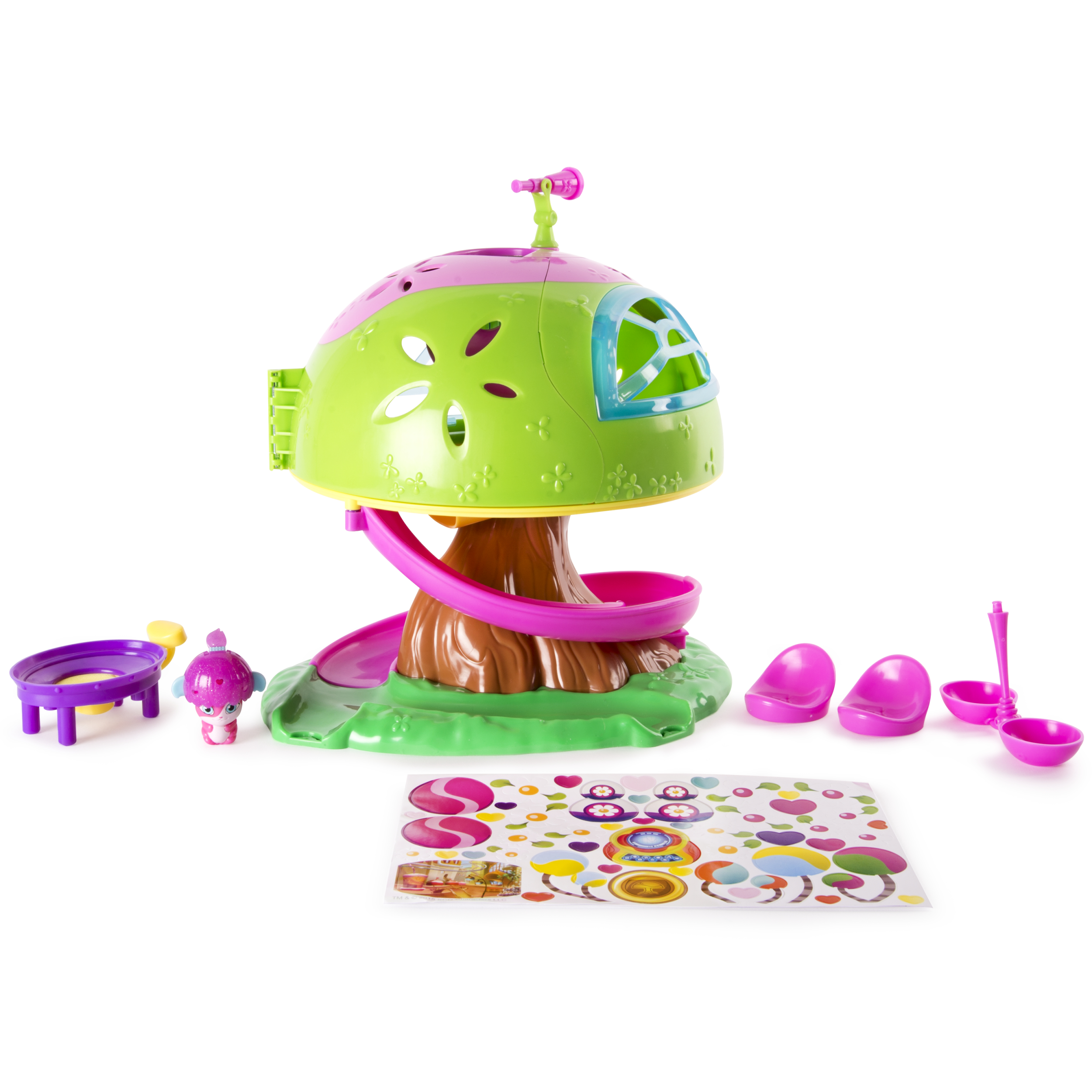 Popples, Deluxe Pop Open Treehouse Playset with Exclusive Pop Up Transforming Figure, by Spin Master