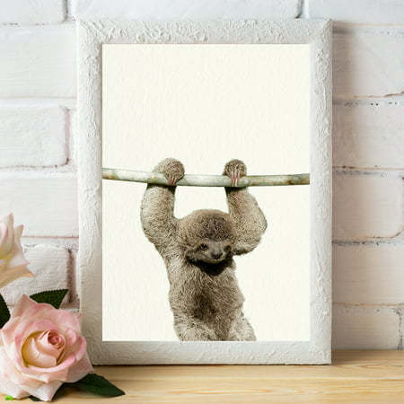 Baby Zoo Sloth - Nursery Wall Décor Farm Baby Animal Art Print