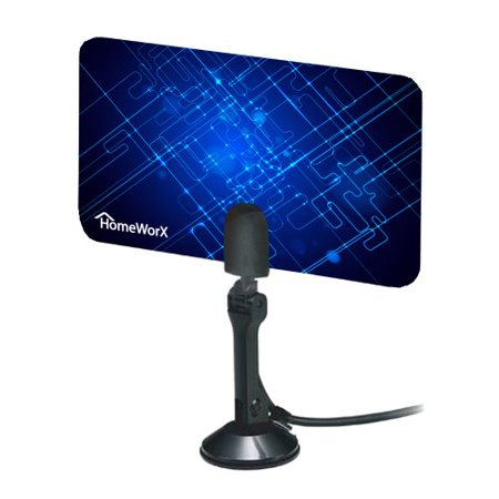 Mediasonic Homeworx HW110AN Super Thin Indoor HDTV Antenna - 25 Miles
