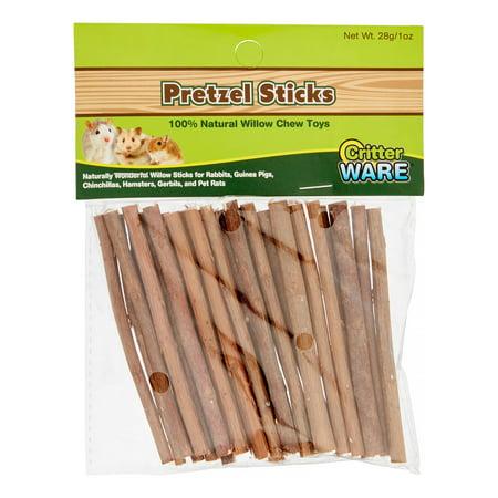 Ware Pretzel Sticks Small Animal Chew Toys, 1 Oz