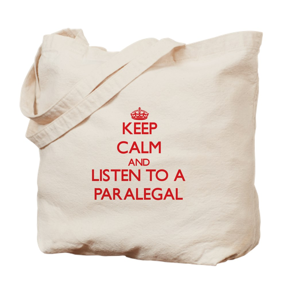 CafePress - Keep Calm And Listen To A Paralegal - Natural Canvas Tote Bag, Cloth Shopping Bag