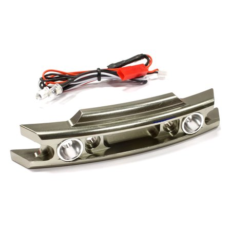 Integy RC Toy Model Hop-ups C25582GUN Billet Machined Front Bumper w/ LED Lights for Traxxas 1/10 Revo 3.3 & E-Revo