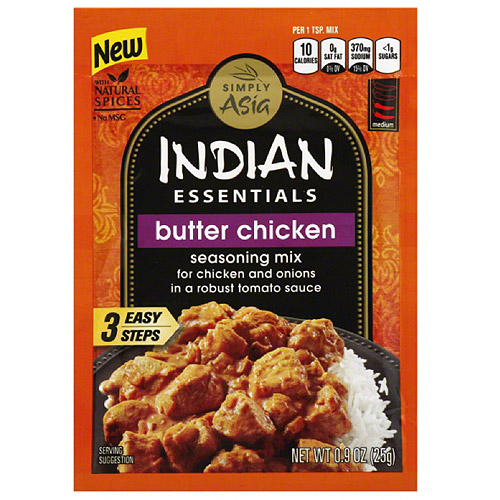 Simply Asia Indian Essentials Butter Chicken Seasoning Mix, 0.9 oz, (Pack of 12)