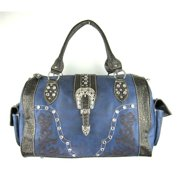 Accessories Plus AZ-111 NY Duffle Bag with Embroidery, Navy