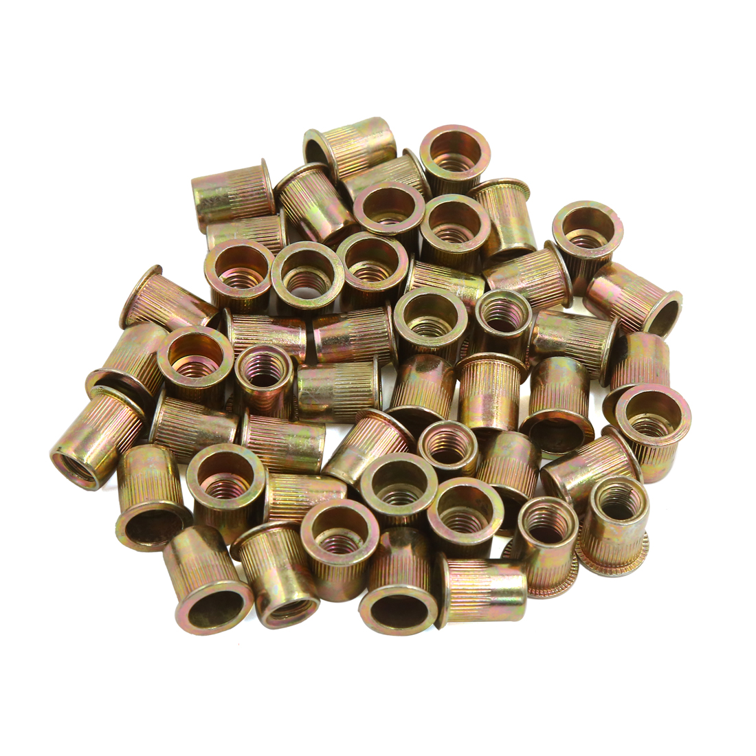50Pcs 3/8-16 Bronze Tone Stainless Steel Thread Rivet Nut Insert Nutserts