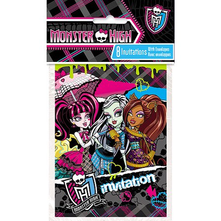Monster High Invitations 8ct Walmart – Monster High Birthday Invitations Free