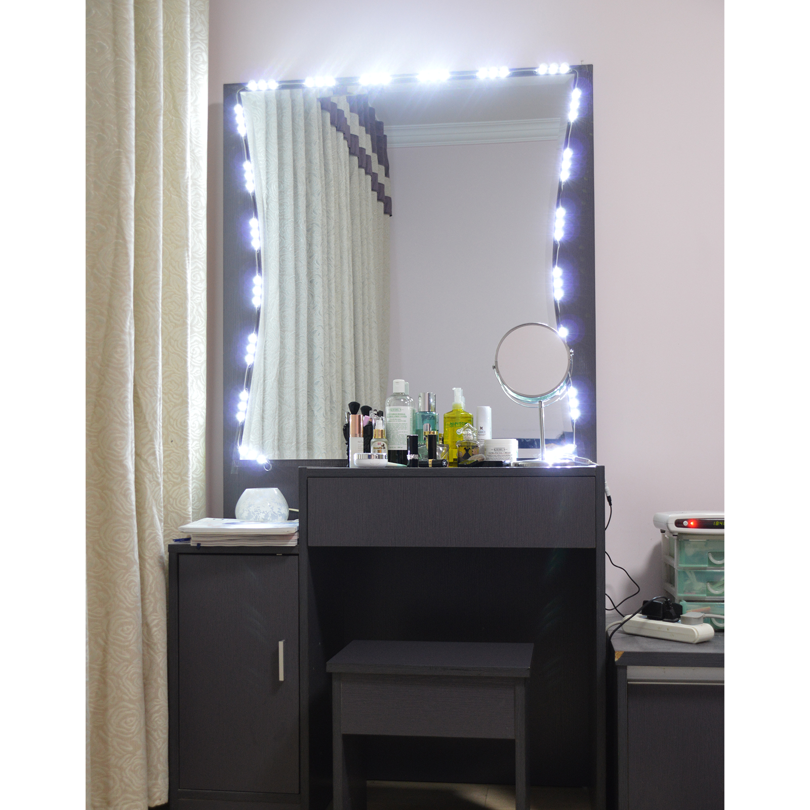 PENSON & CO. 10ft LED Mirror Light Kit Vanity Mirror Light Lighted Cosmetic Makeup With Dimmer Wireless Controller