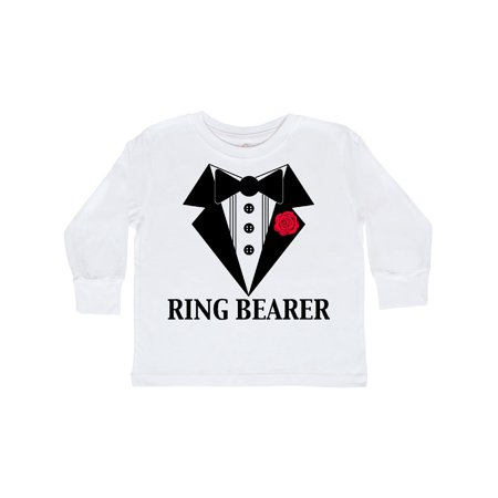 Toddler Ring Bearer - Tuxedo Ring Bearer Toddler Long Sleeve T-Shirt