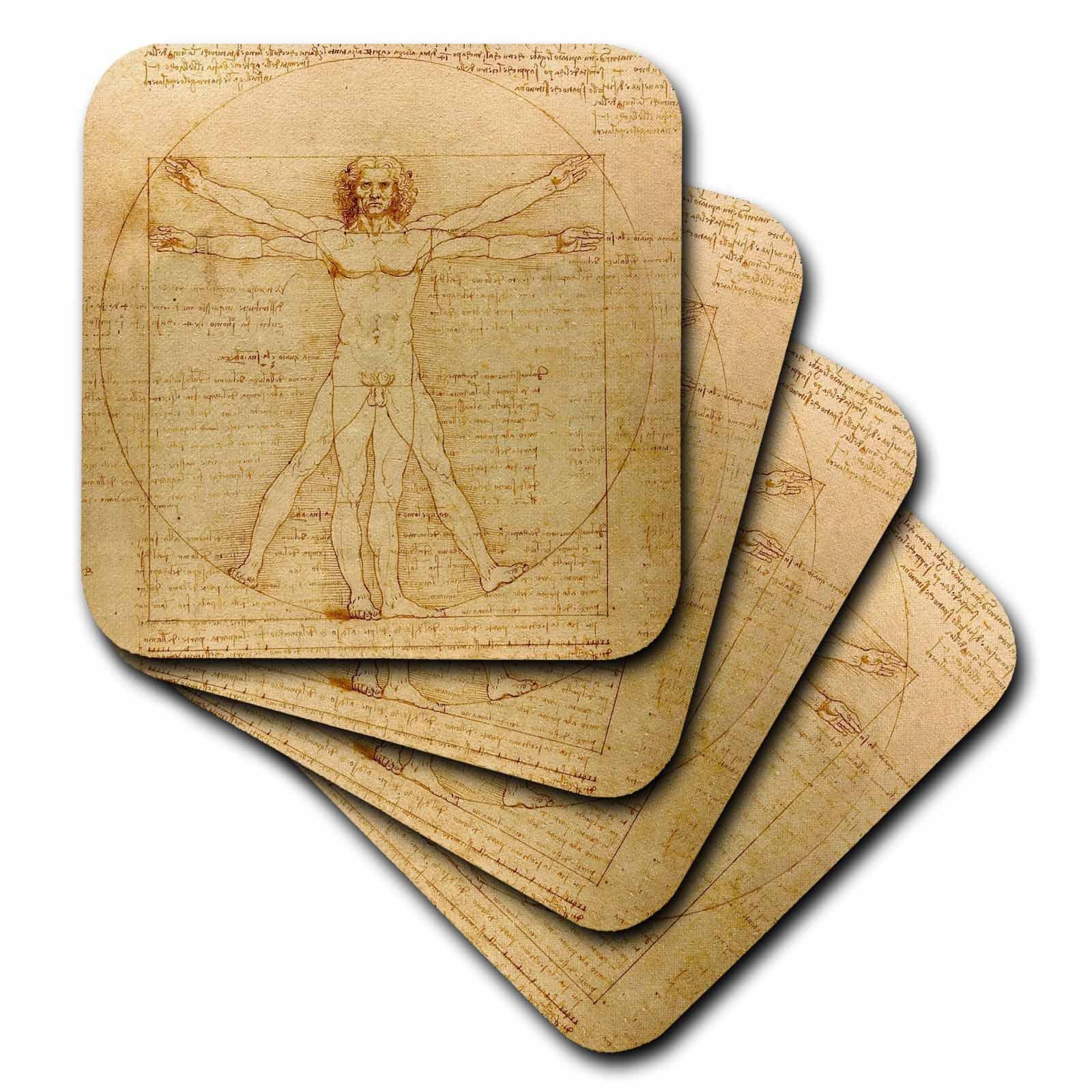 3drose Vitruvian Man By Leonardo Da Vinci 1490 Fine Anatomical Art