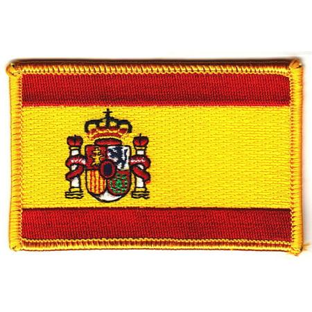 SPAIN FLAG, Spanish National Flag Gold Border 3.5