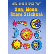 Shiny Sun, Moon, Stars Stickers