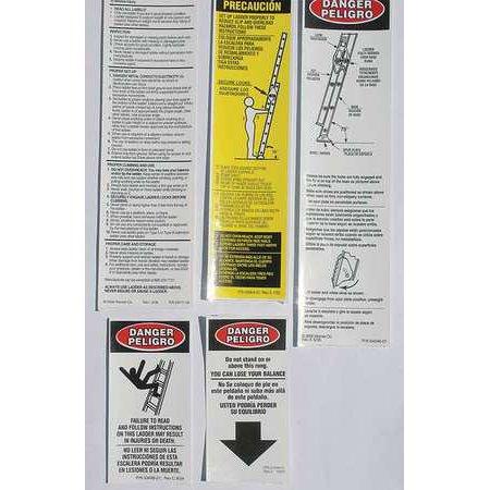 Werner Lfe100 Fg Extension Ladder And Safety Labels