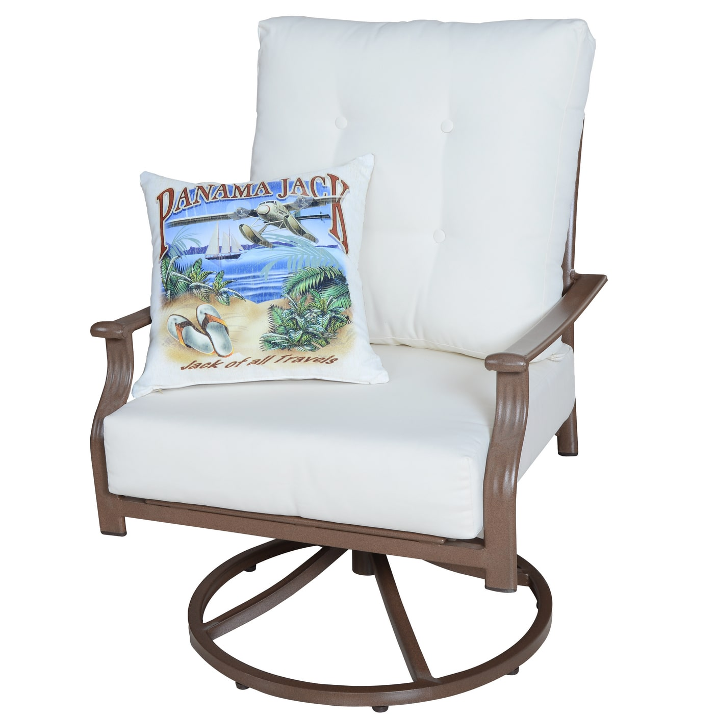 Panama Jack  Swivel Lounge Chair with Cushion