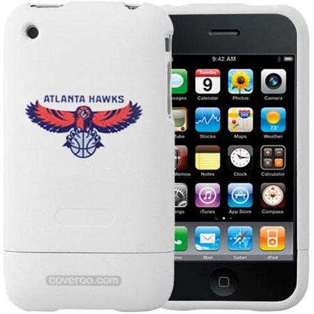 Atlanta Hawks White Team Name & Logo iPhone 3G Hard Snap-On Case Team Logo Hard Iphone